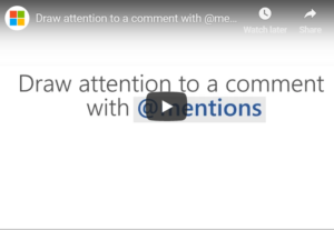 How To Use @Mentions In Microsoft Office