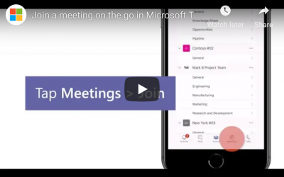 How to Join a Microsoft Teams Meeting on the Go