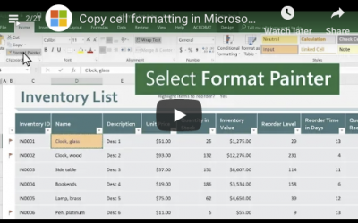 How to Copy Cell Formatting in Microsoft Excel