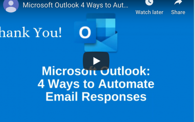 How to Automate Microsoft Outlook Email Responses